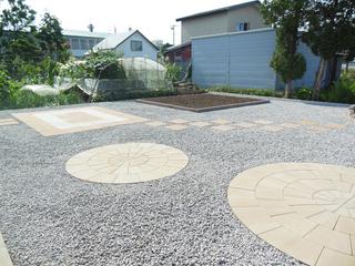 デザイン性のあるお庭
