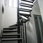 経験を活かして自分で作った鉄製の螺旋階段