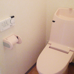 パステルカラーのトイレ